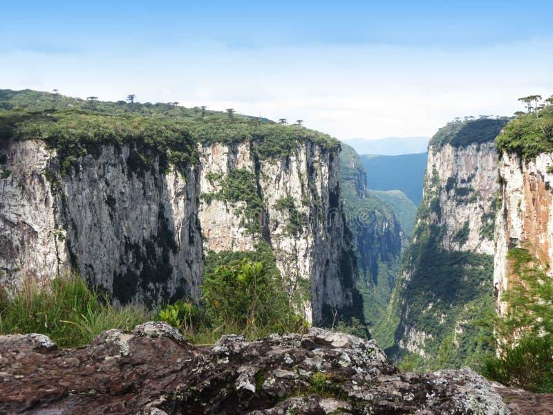 Itaimbezinho峡谷-巴西 免版税库存照片
