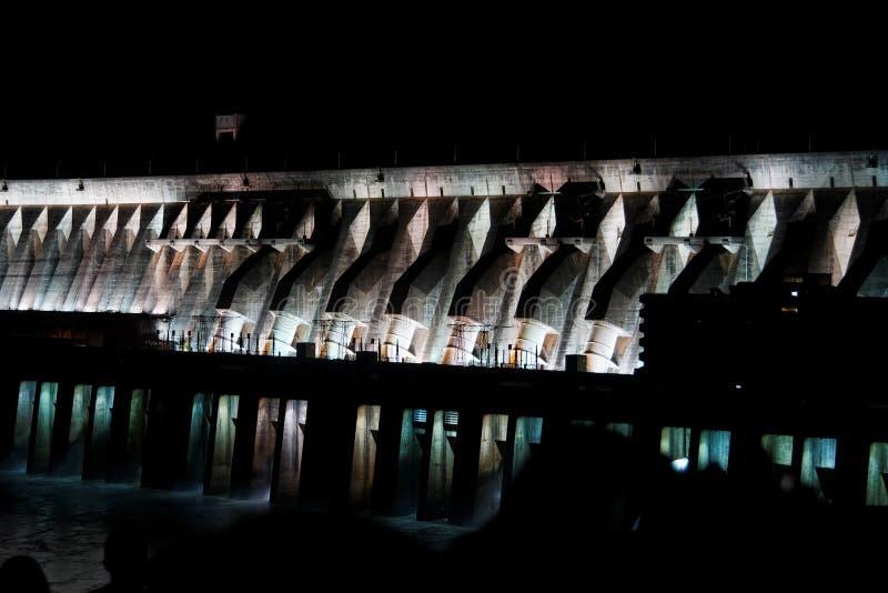 Itaipu hydroelektrische Triebwerkanlage stockfoto