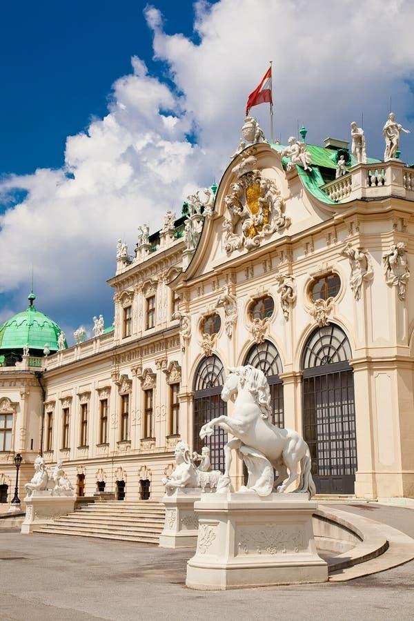 Ital Belvedere ( Belvedere) een paleis complex in Wenen royalty-vrije stock fotografie