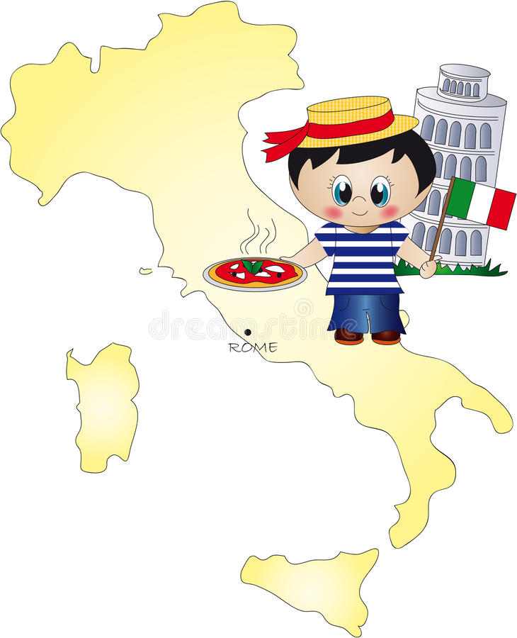 Italië vector illustratie