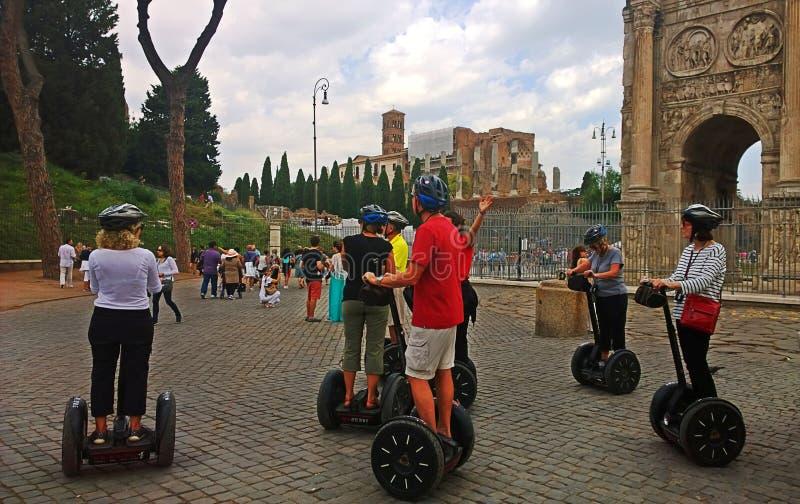 Italië De Segway-reis in Rome royalty-vrije stock foto's