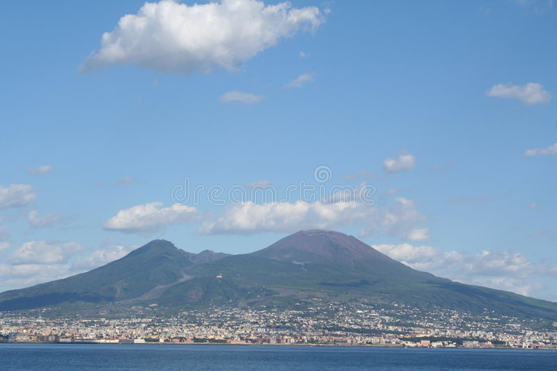 Italië. De vulkaan van de Vesuvius royalty-vrije stock afbeelding