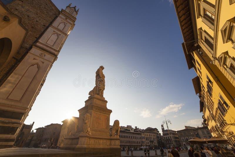 Italië, Florence, de kerk van Santa Croce royalty-vrije stock foto's
