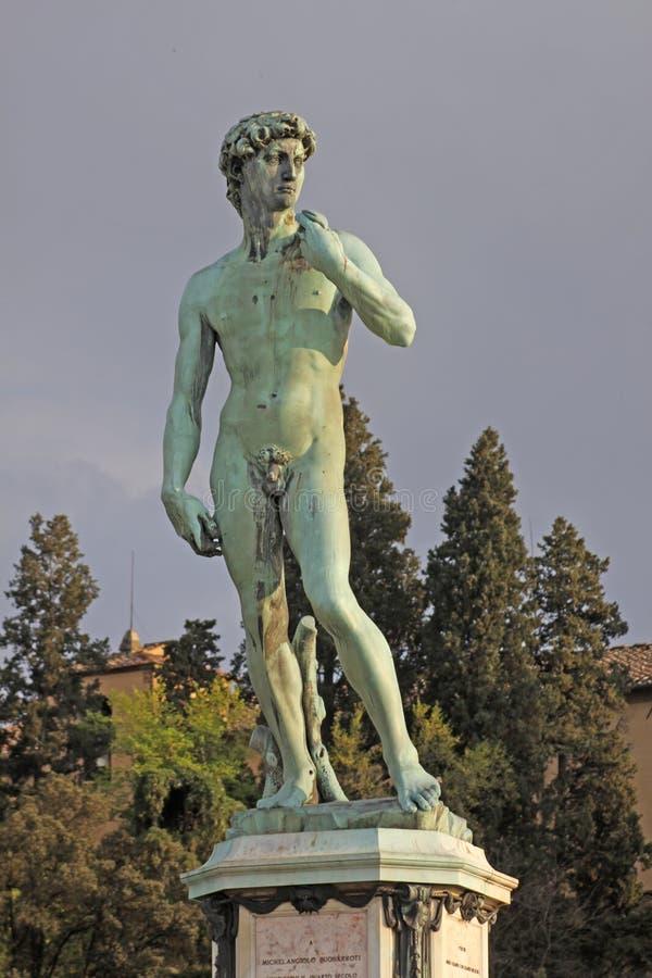 Italië Florence Italië David in Piazzale Michelangelo stock foto