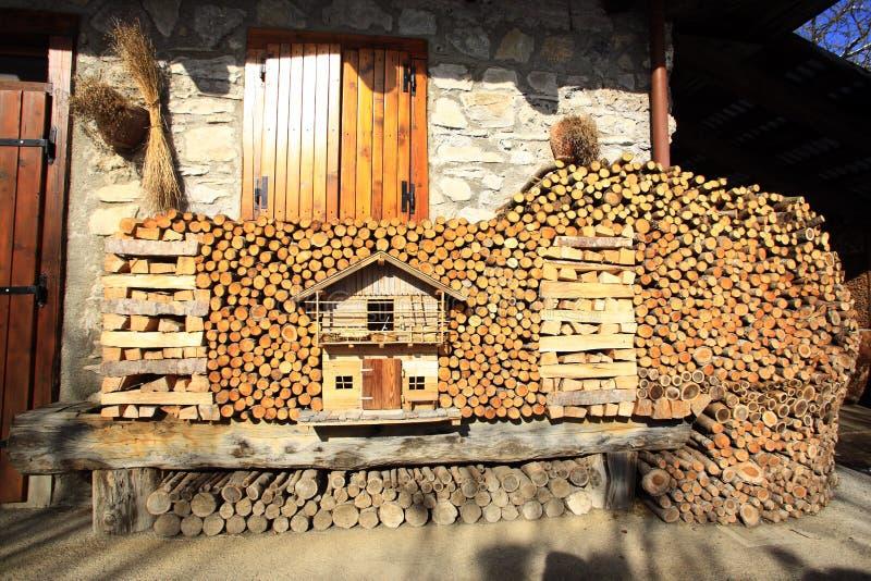 Italië, Friuli Venezia Giulia, Sauris-dorp stock afbeeldingen
