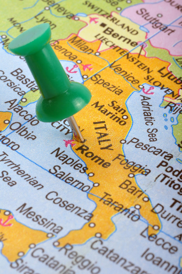 Italië in kaart