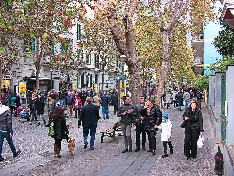 Italië Napels, Luca Giordano-straat, 4 stock foto's