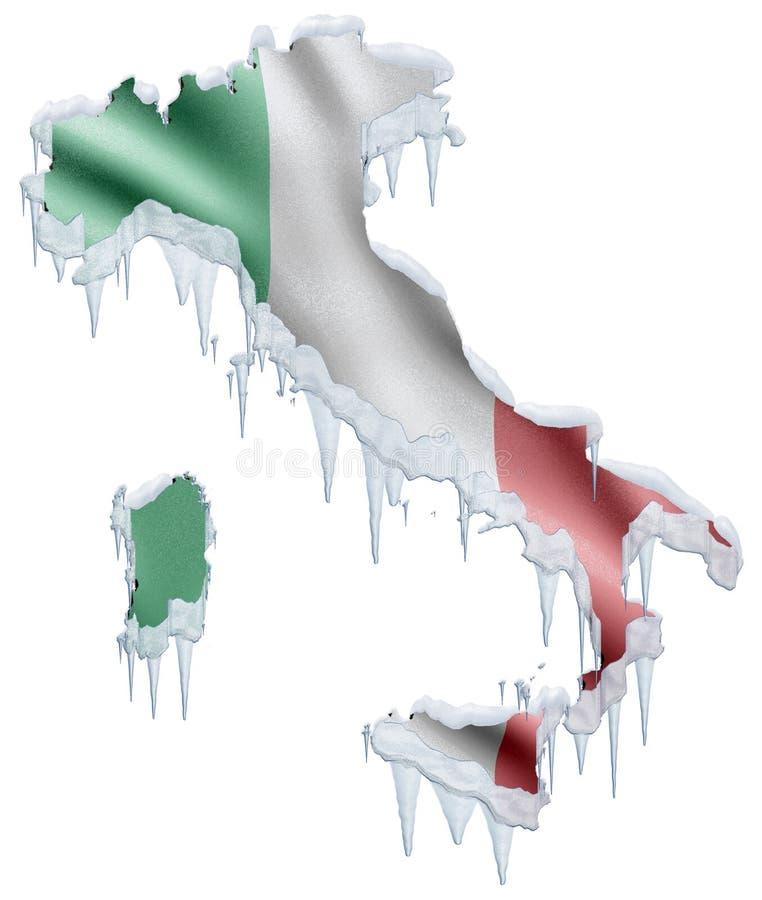 Italië omvat door Vorst vector illustratie