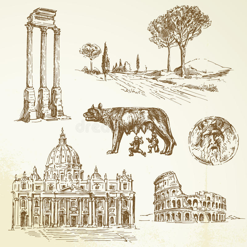 Italië - Rome vector illustratie