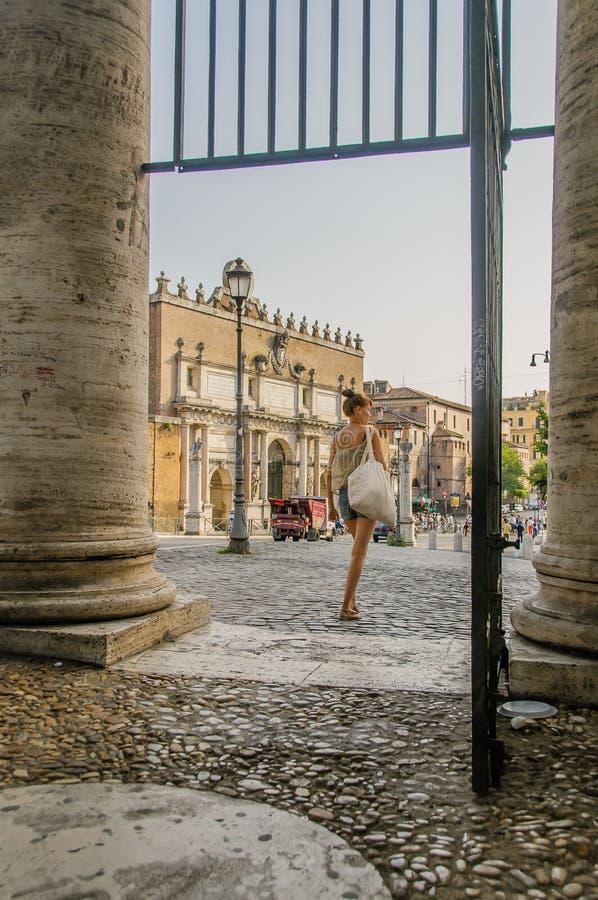 Italië - Rome - Piazza del Popolo stock foto
