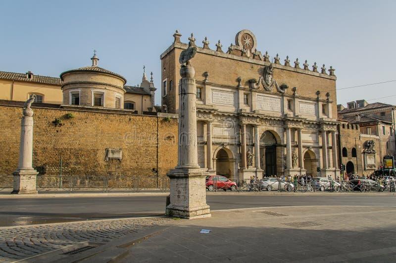 Italië - Rome - Piazza del Popolo stock afbeeldingen