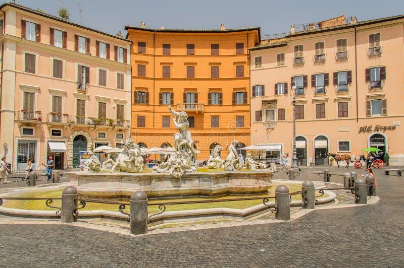 Italië - Rome - Piazza Navona royalty-vrije stock afbeeldingen