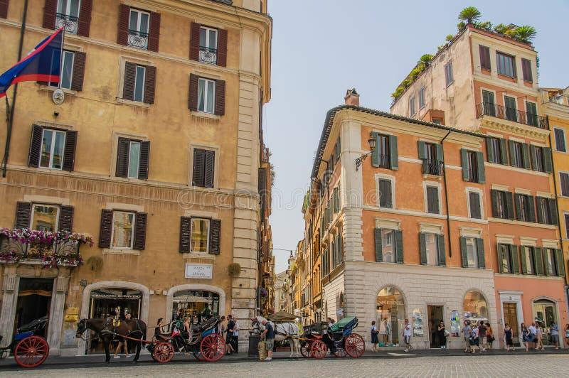 Italië - Rome - Pizza Di Spagna royalty-vrije stock foto's