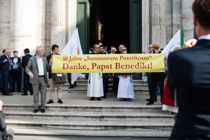 Italië-Rome - 7 September 2017 - viering van de bedevaart van stock afbeelding