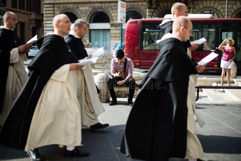 Italië-Rome - 7 September 2017 - viering van de bedevaart van royalty-vrije stock foto