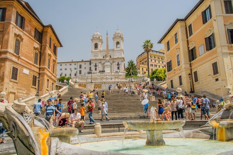 Italië - Rome - Spaanse Stappen stock fotografie