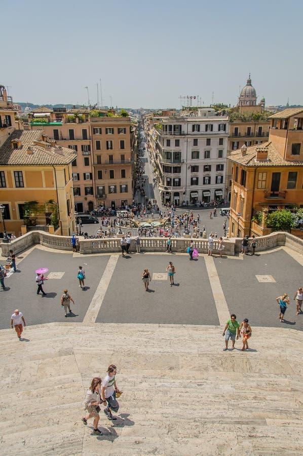 Italië - Rome - Spaanse Stappen stock foto