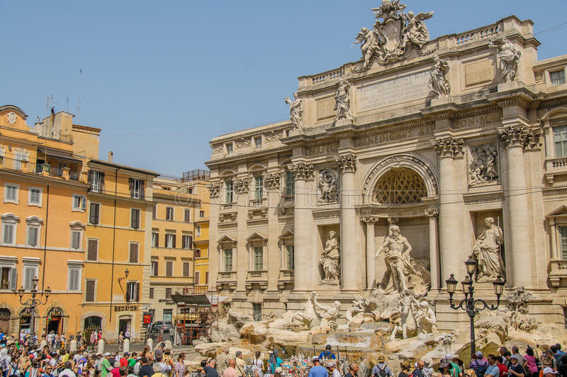 Italië - Rome - Trevi Fontein royalty-vrije stock afbeelding