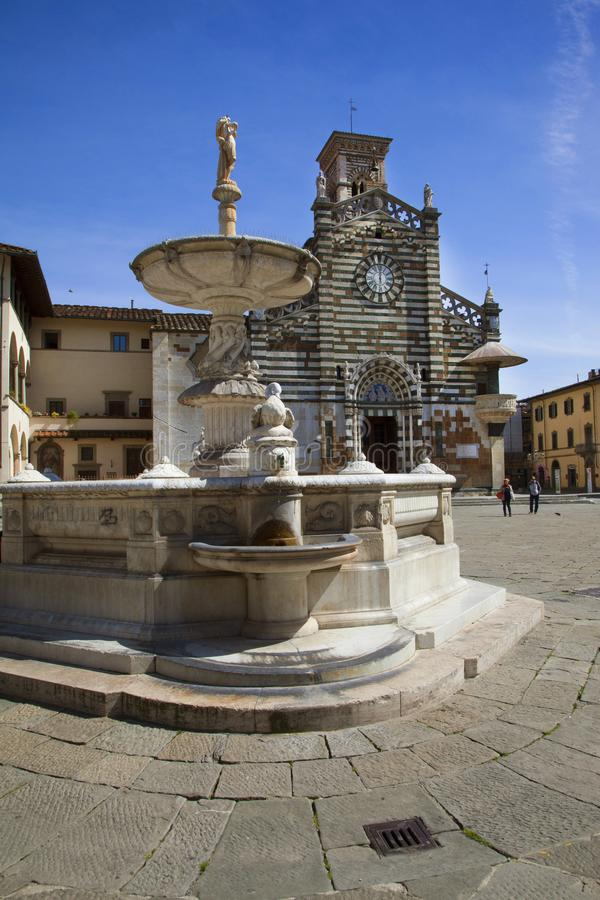 Italië, Toscanië, Prato-stad stock fotografie