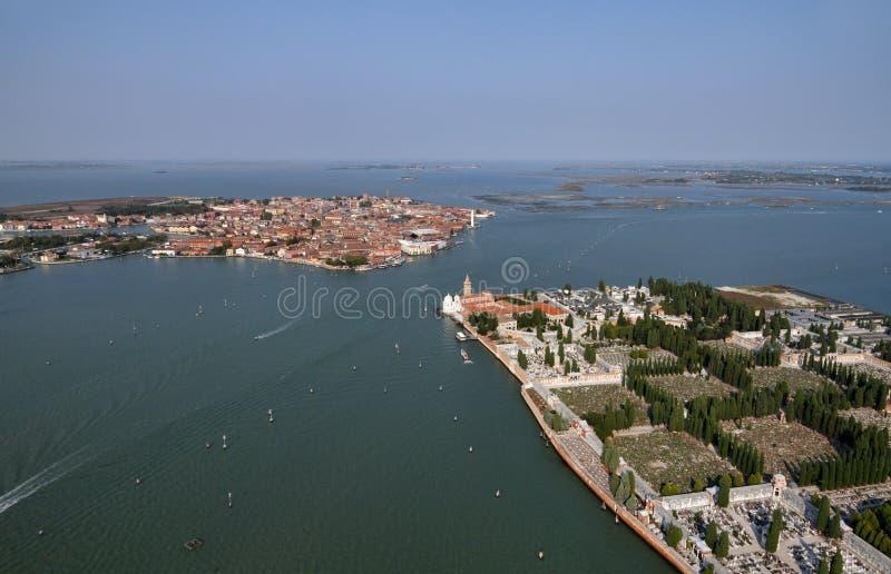 Italië, Venetië, Murano Eiland, St. Michele Island stock afbeelding