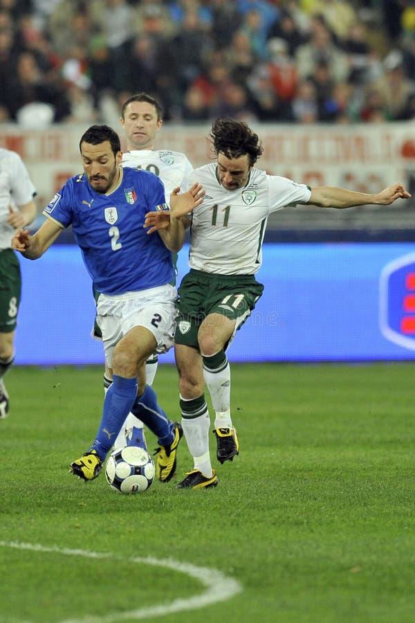Italië versus de wereldkop van Ierland FIFA royalty-vrije stock afbeeldingen