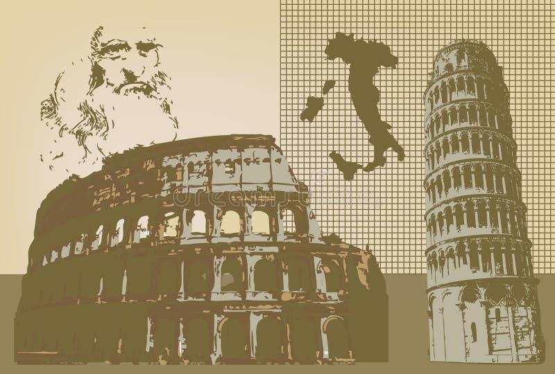 Italia ilustração royalty free