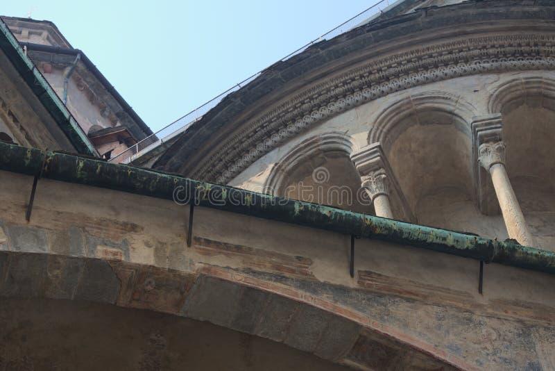 Italia, B?rgamo La bas?lica de Santa Maria Maggiore fotografía de archivo libre de regalías