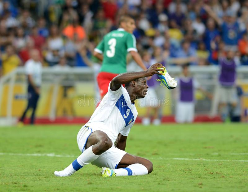 Italia Balotelli national team soccer player. Rio deJaneiro - Brazil  Italia Balotelli national team soccer player during match between Italia and Mexico at stock images