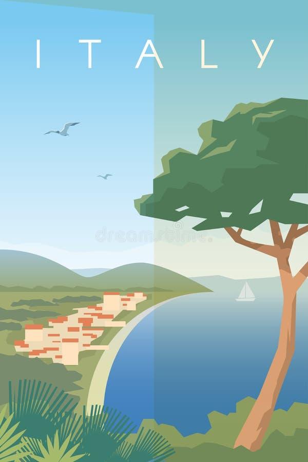 Italia Cartel del vector stock de ilustración