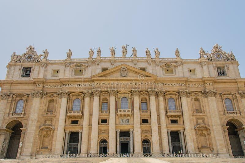 Italia - Ciudad del Vaticano - el cuadrado de San Pedro imagen de archivo