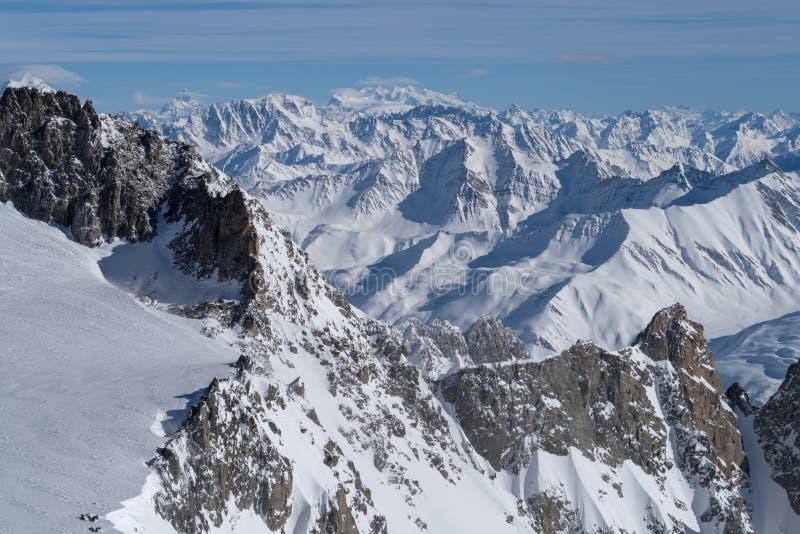 Italia, Courmayeur, gama de Mont Blanc imagen de archivo libre de regalías