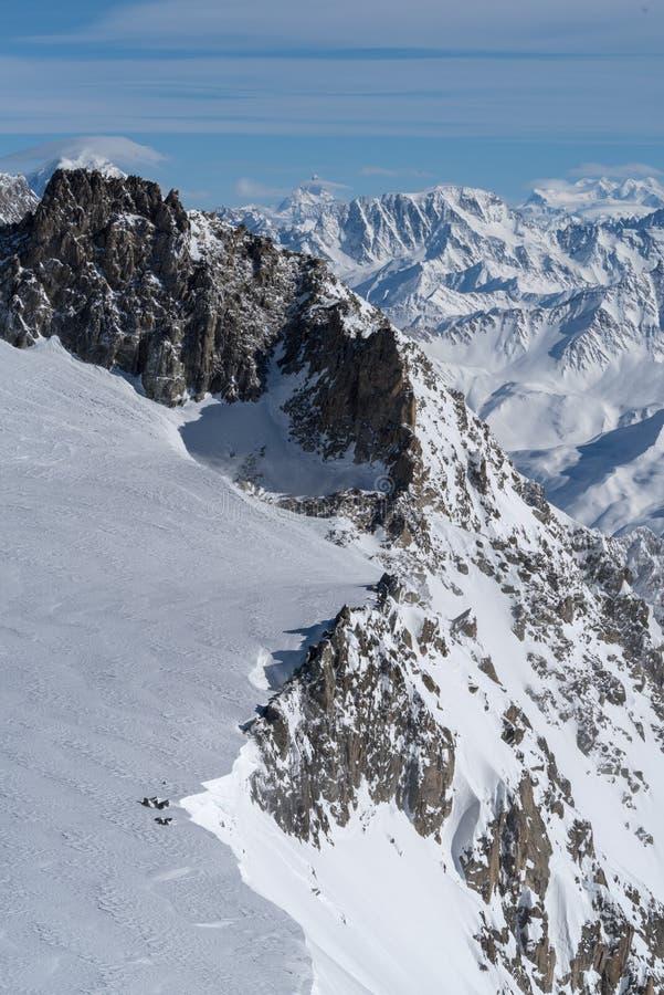 Italia, Courmayeur, gama de Mont Blanc foto de archivo