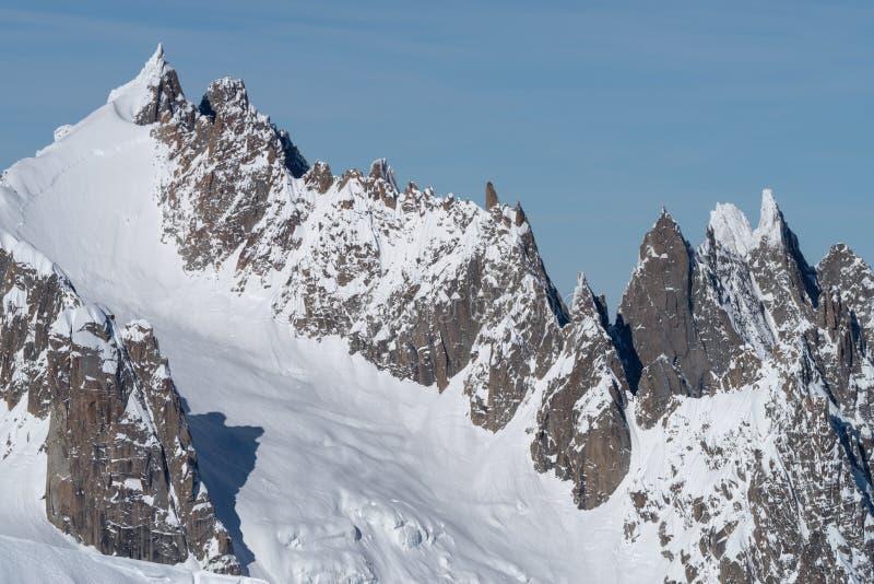Italia, Courmayeur, gama de Mont Blanc imágenes de archivo libres de regalías