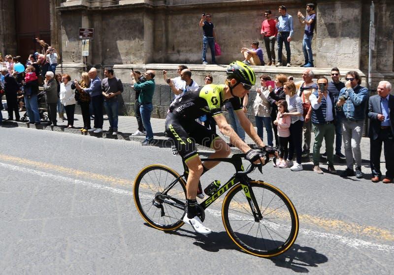 ` Italia 2018 do Giro d 4o fase em Catania, Sicília imagem de stock royalty free