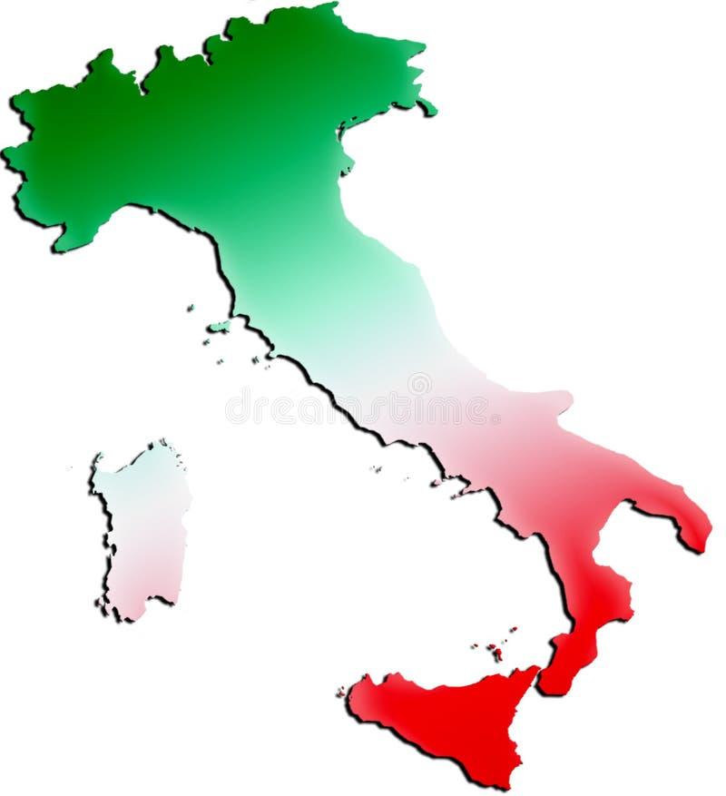 Italia e indicador del Shading libre illustration