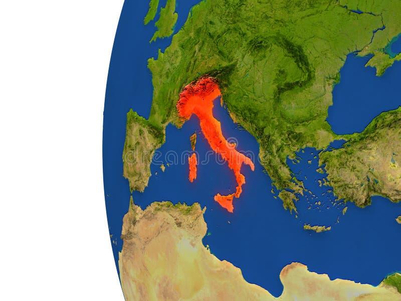Italia en el globo libre illustration