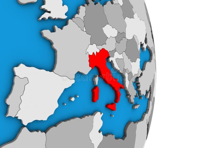 Italia en el globo 3D libre illustration