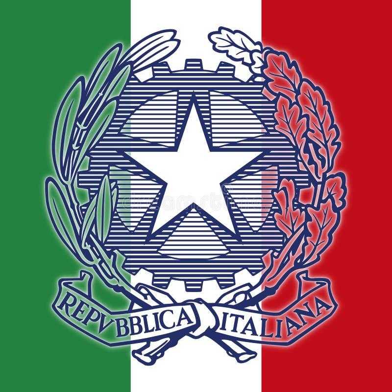 Italia, escudo de armas italiano de la república ilustración del vector