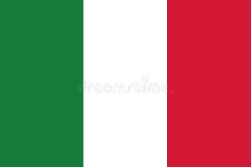 Italia flag stock illustration