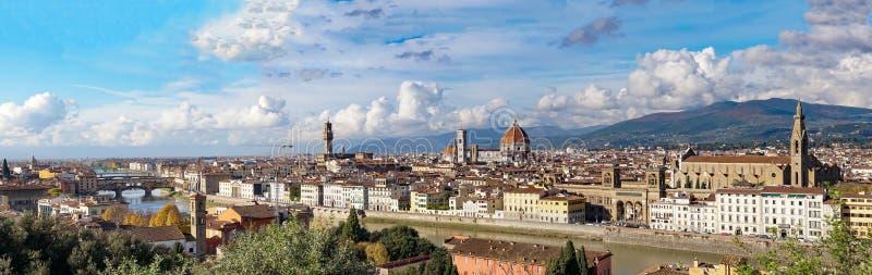 Italia Florencia Visión panorámica desde Piazzale Miguel Ángel imagen de archivo