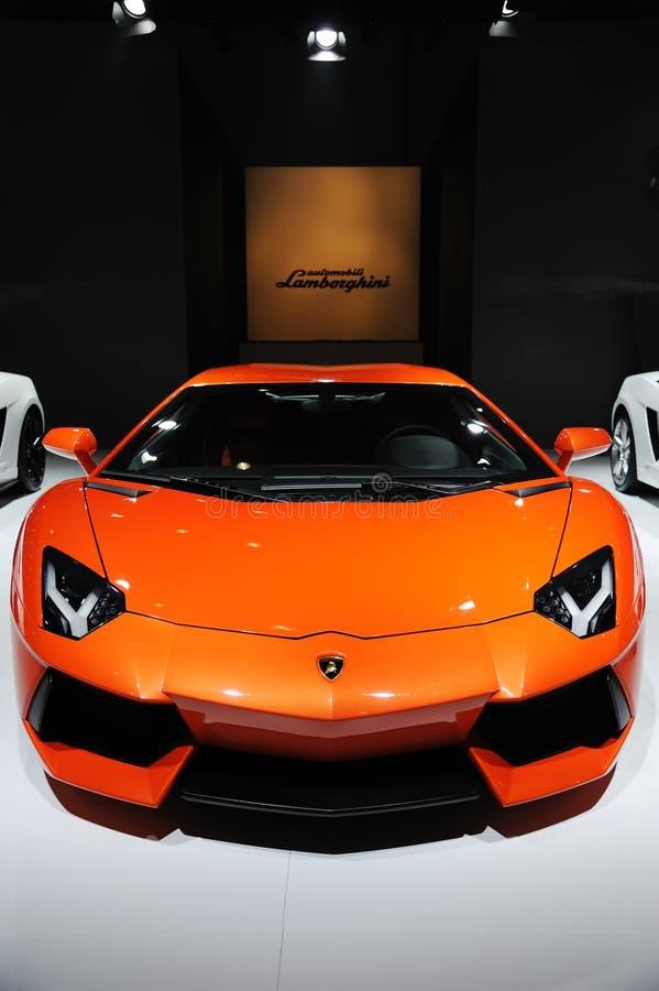 Italia Lamborghini Aventador LP 700-4 imagenes de archivo