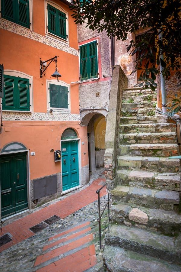 Italia, Liguria, Riviera di Levante, Tellaro imagen de archivo