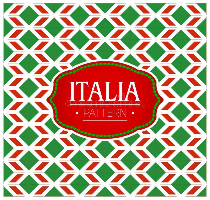 Italia modell, s?ml?s bakgrundstextur och emblem royaltyfri illustrationer