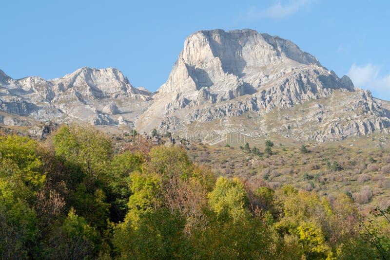 Italia, montañas ligures en otoño fotografía de archivo libre de regalías