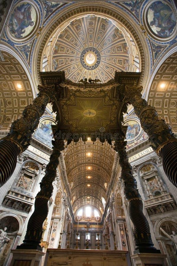 Italia, Roma, catedral de los ?s de San Pedro fotografía de archivo