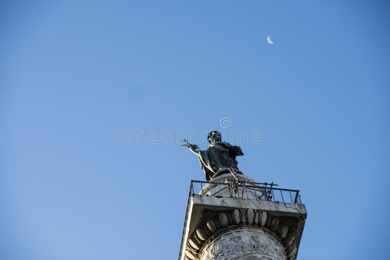 Italia, Roma, columna de Trajan fotos de archivo libres de regalías