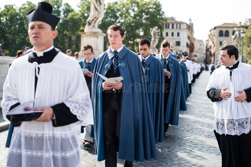 Italia-Roma - 7 de septiembre de 2017 - celebración del peregrinaje de fotos de archivo libres de regalías