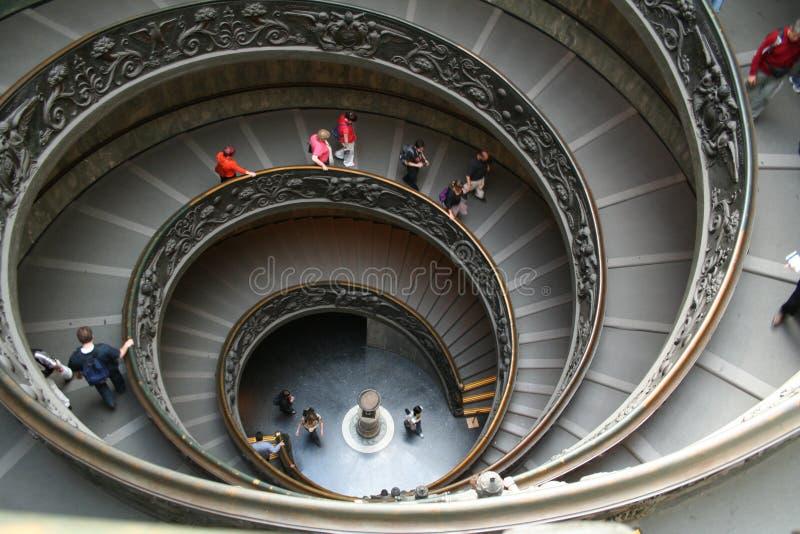 Italia. Roma. Vatican. Una escalera espiral doble imagen de archivo