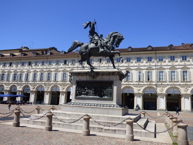 Italia. Torino. Piazza San Carlo. Piazza San Carlo royalty free stock images