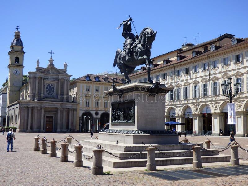 Italia. Torino. Piazza San Carlo. Piazza San Carlo royalty free stock image